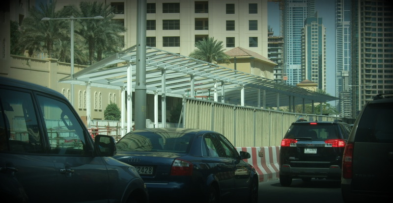 A Station for Al Sufouh Tram Being Built in Dubai Marina