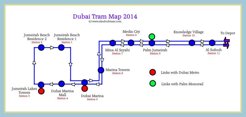 Dubai Tram Map Lines Route Hours Tickets