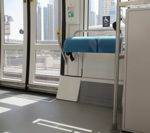 Dubai Tram Wheelchair Space