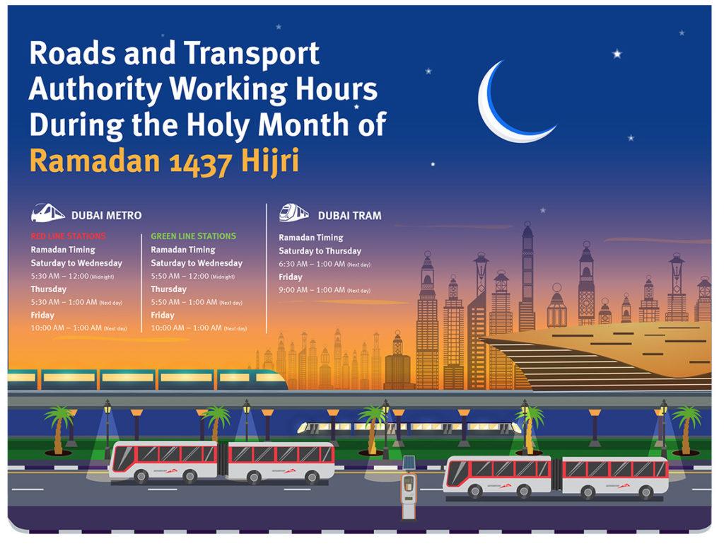 Dubai Metro and Tram Timings